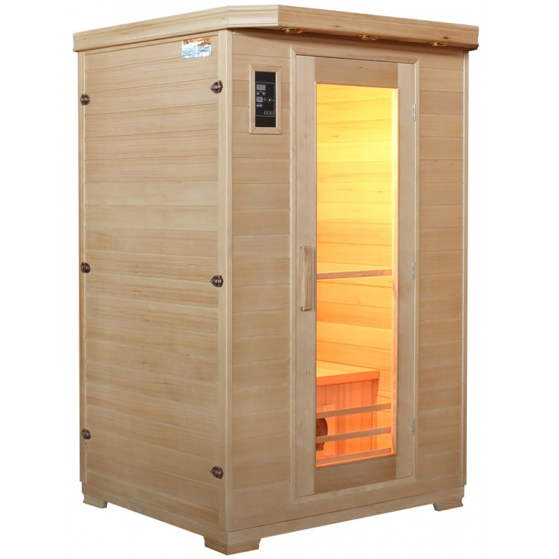 sauna infrarouge 2 places panneaux c ramique sn. Black Bedroom Furniture Sets. Home Design Ideas