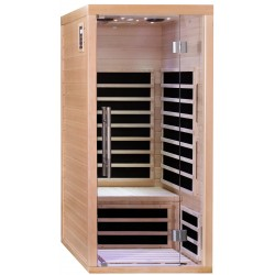 Sauna infrarouge panneaux carbone 1670W LUXE 1 place - SNÖ