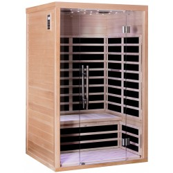Sauna infrarouge panneaux carbone 2160W LUXE 2 places - SNÖ