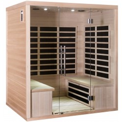 Sauna infrarouge panneaux carbone 3200W LUXE 4 places - SNÖ