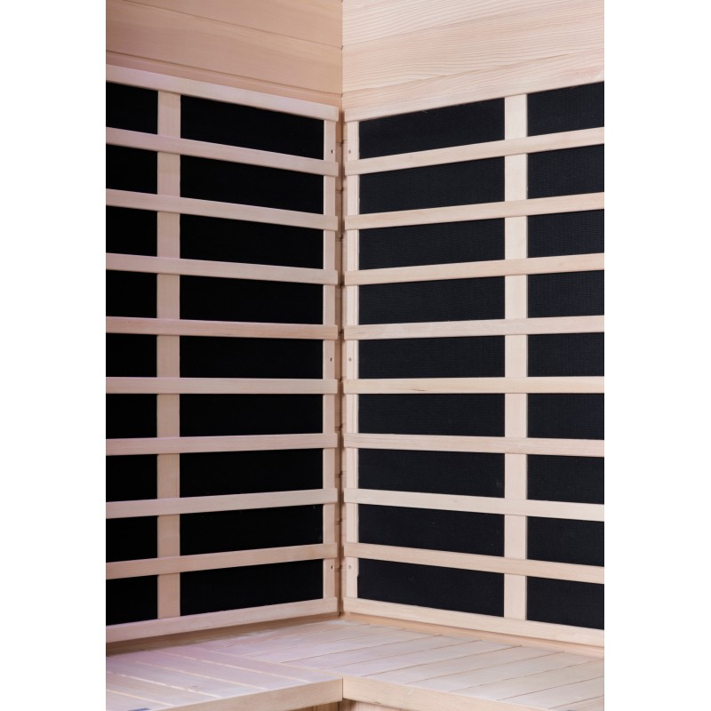 Sauna infrarouge d angle panneaux carbone 2180w luxe 2 3 - Sauna infrarouge carbone ...
