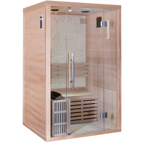 Sauna traditionnel LUXE 2 places SNÖ + poêle SAWO 3000W
