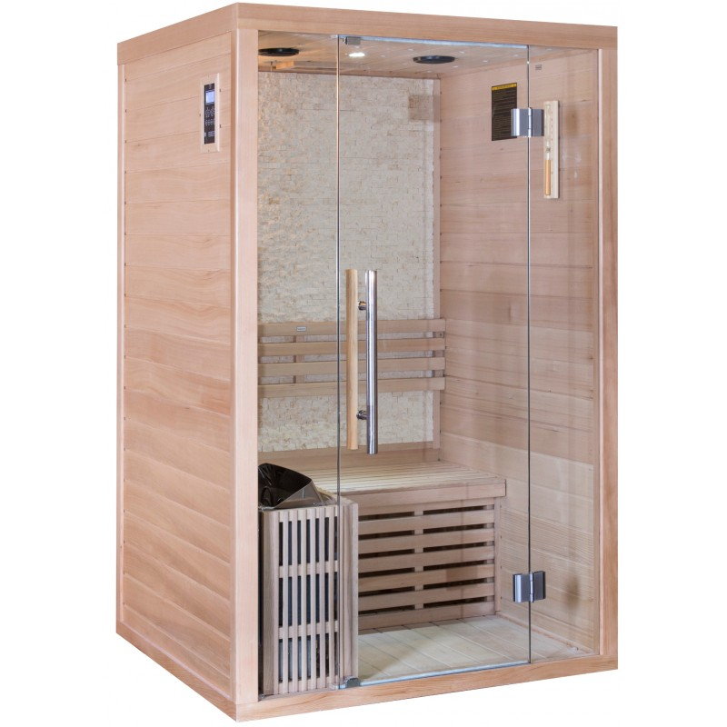 sauna traditionnel luxe 2 places sn po le sawo 3000w. Black Bedroom Furniture Sets. Home Design Ideas