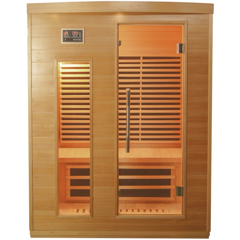 Sauna infrarouge panneaux carbone 2250w 3 places sn - Sauna infrarouge carbone ...