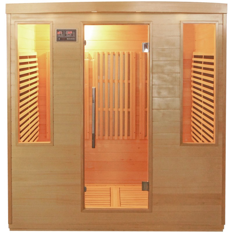 Sauna infrarouge panneaux carbone 3100w 4 places sn - Sauna infrarouge carbone ...
