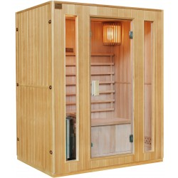 Sauna traditionnel 3 places + poêle HARVIA 3500W - SNÖ