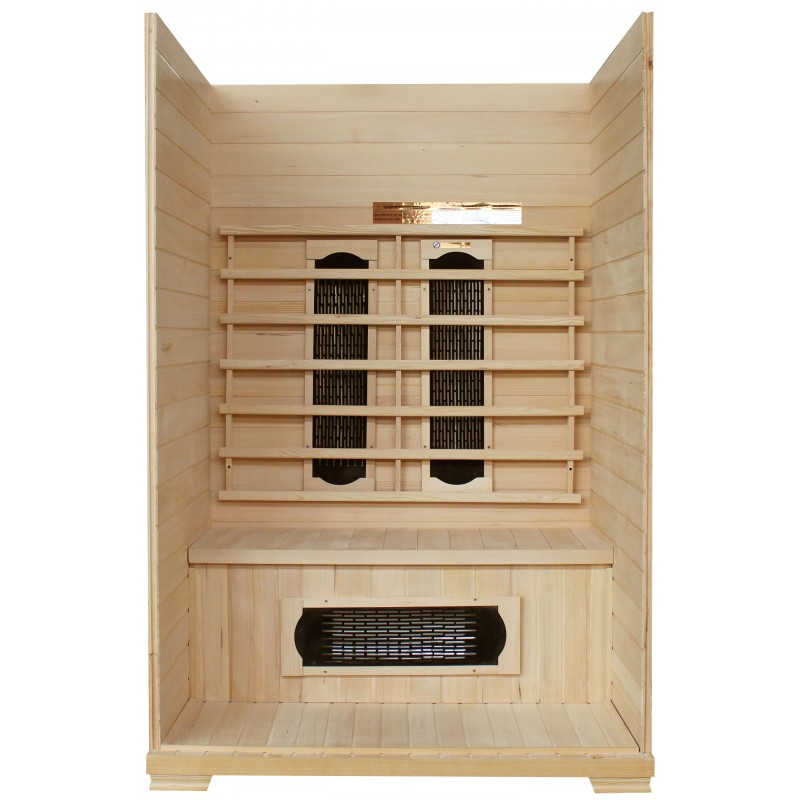 sauna infrarouge panneaux c ramique 1750w 2 places sn. Black Bedroom Furniture Sets. Home Design Ideas