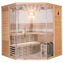 Sauna traditionnel LUXE 5-6 places SNÖ + poêle SAWO 9000W - SNÖ