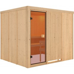 Sauna traditionnel Nybro 6 à 8 places 68mm - Woodfeeling